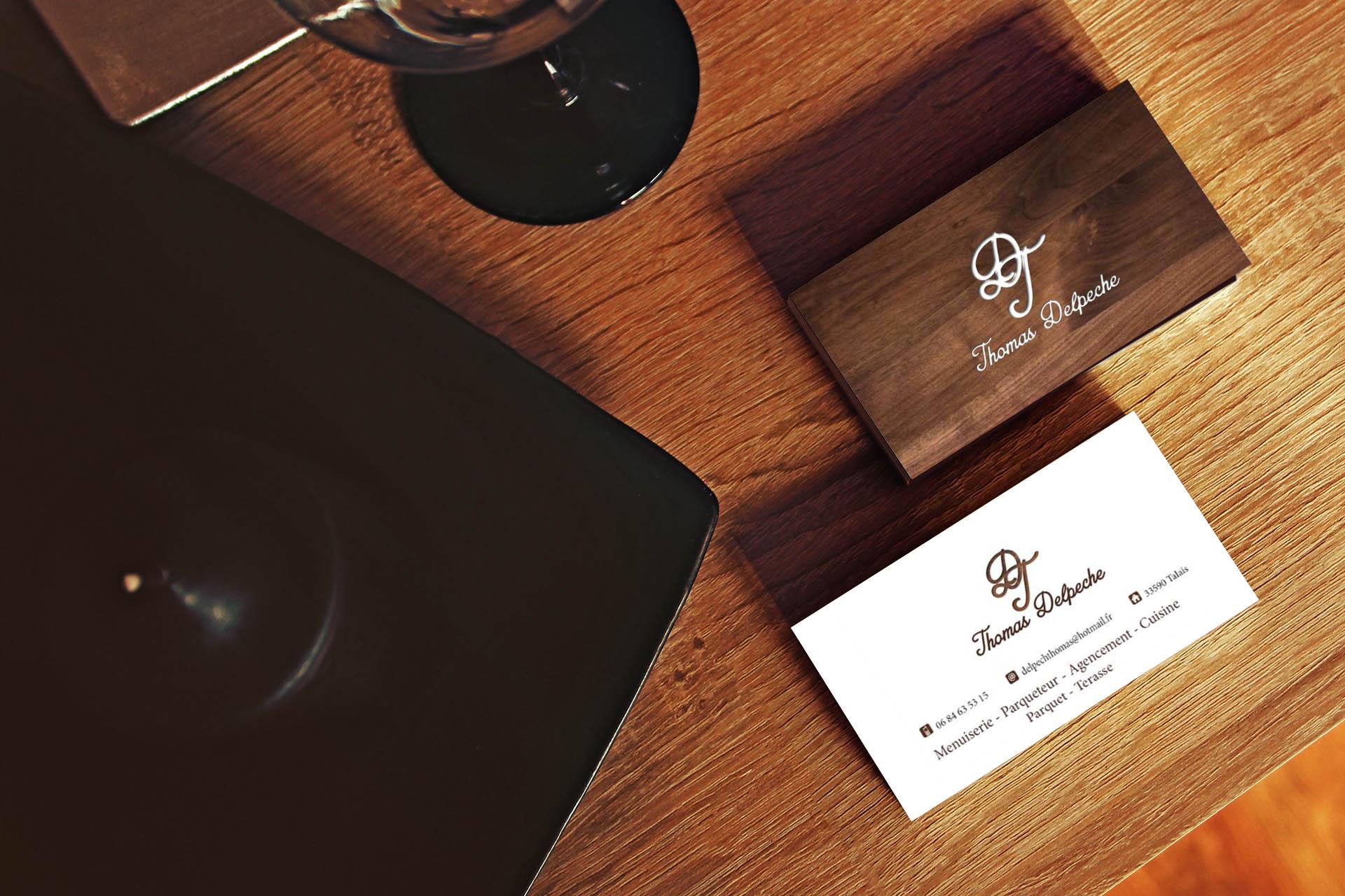Cration De Logo Et Carte Visite Pour Un Bniste
